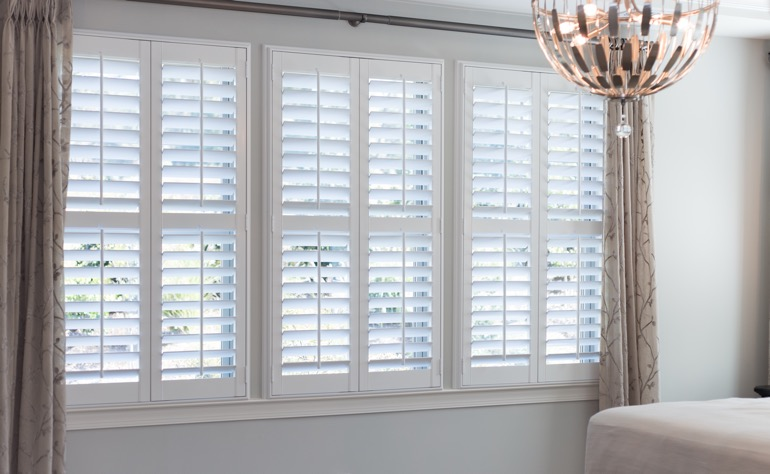 Miami plantation shutters guest room