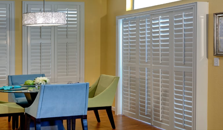 Patio Doors with Plantation Shutters in Miami