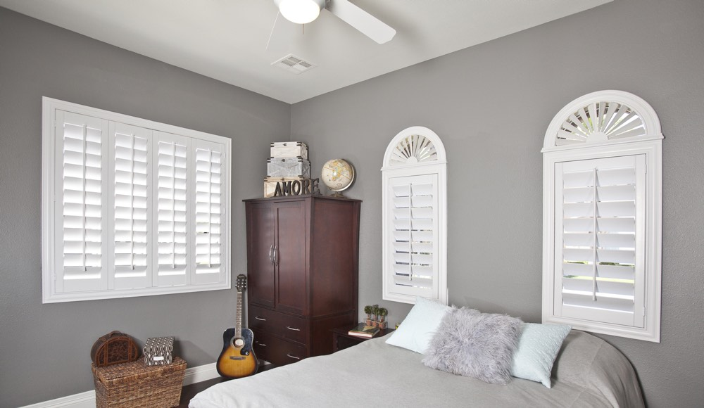 Polywood Shutters In A Miami Bedroom