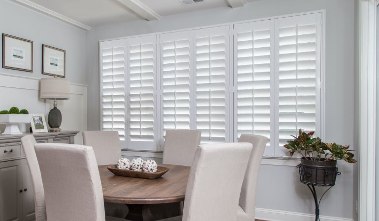 shutters in Miami living room