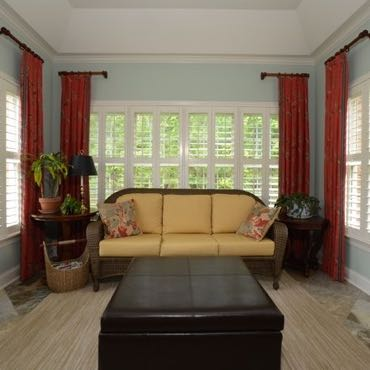 Miami sunroom window shutters.