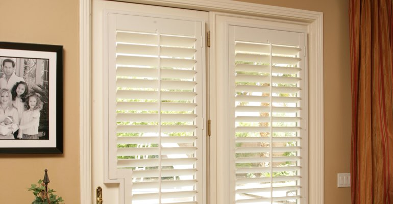 Miami french door white shutters
