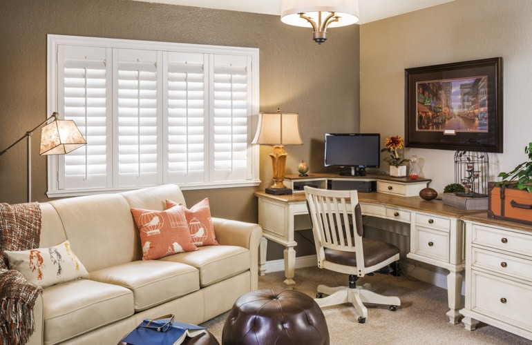 Home Office Plantation Shutters In Miami