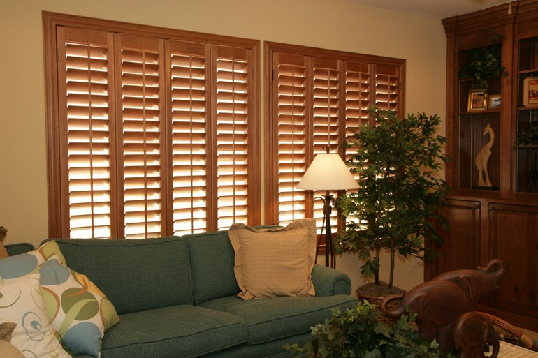 Ovation Shutters In A Miami Living Room.