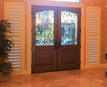 Miami sidelight window treatment shutter