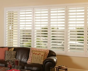 Miami wide window shutter living room